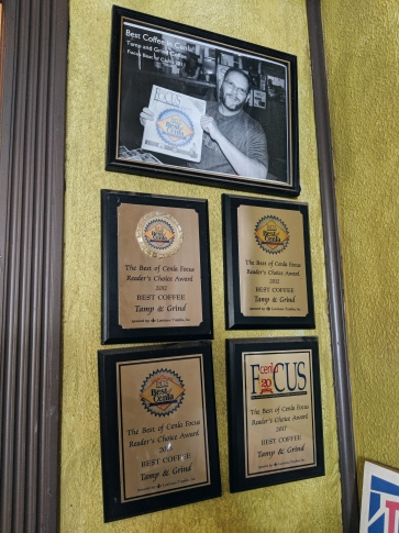 Awards on display!