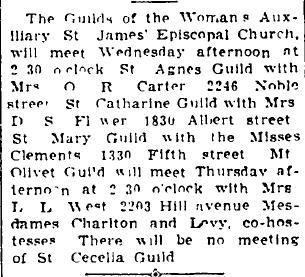 Mrs. Flower led meetings for the church in 1934.