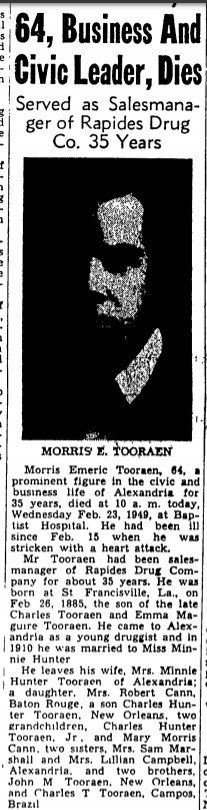Page 1 of Alexandria Daily Town Talk, published in Alexandria, Louisiana on Wednesday, February 23rd, 1949