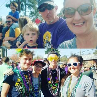 Family Time at the Annual Krewes Parade